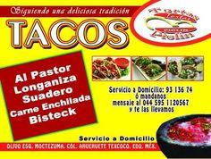 Tacooooos! Solo Tortas Piolin te lleva tus tacos a domicilio! Pide ya! https://www.facebook.com/tortas.piolin?fref=ts