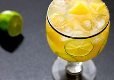 The perfect drink to celebrate the end of summer! Pineapple Lime Tequila Cocktail.