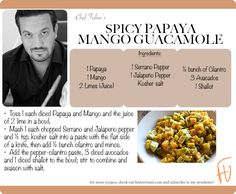 Spicy Papaya Mango Guacamole #Mexican