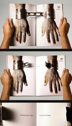 ILO (International Labour Organization): Handcuffs - Agency : AlmapBBDO, Brazil #Ads #Advertising