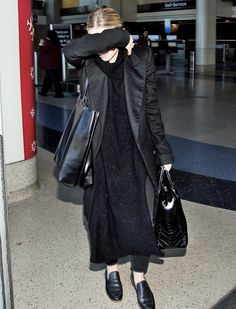 Ashley Olsen wearing (almost) head-to-toe The Row