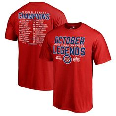 Chicago Cubs 2016 World Series Champions Legends T-Shirt - Red