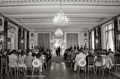 bride groom altar hotel wedding overall