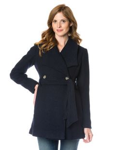 A Pea In The Pod Maternity Double-Breasted Belted Coat Maternity Winter Coat, Maternity Coats, Pregnancy, Wool, Jackets, Winter Coats, Fashion, Down Jackets, Moda
