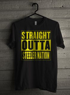 37c24196f Men s Straight Outta STEELER Nation Shirt Handmade Football T-Shirt  8007 by  Expression Tees