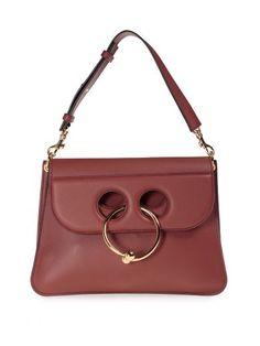 J.W.ANDERSON J.W. Anderson Pierce Medium Leather Shoulder Bag. #j.w.anderson #bags #shoulder bags #lining #suede #