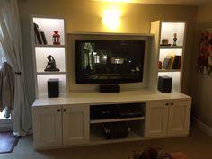 Diy Entertainment Center, Flat Screen, Entertaining, Building, Furniture, Home Decor, Homemade Home Decor, Flat Screen Display, Buildings