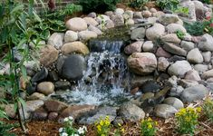 diy water features | Waterfall Pump Sizing. Be aware that waterfall pump sizing is much ...