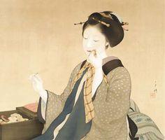 Beauty sewing - Kitani Chigusa (1895-1947)