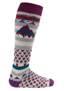 Try these Party Socks from Burton, a beautiful blend of Marino wool will keep you warm without the itch and dries quickly too.  $25 #burton #marino #wool #socks #fun #bold #winter #fashion www.thrivemagofficial.com
