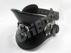 Bondage Restraint Strict Leather Posture Collar with 3 strong D rings - SUPERIOR QUALITY, bdsm restraints for fetish slave, Mature