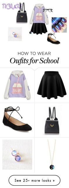 """""""Nova school"""" by annaleecej on Polyvore featuring Karl Lagerfeld, WithChic and Accessorize"""