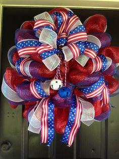 4th of July wreath by WreathsbyLaura on Etsy, $85.00