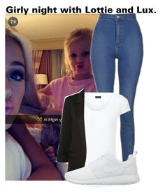 """Girly night with Lottie and Lux."" by cheekyxtommo ❤ liked on Polyvore featuring Joseph, WithChic and NIKE"