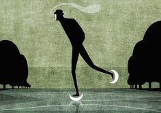 """Toni Demuro иллюстрации, """"на льду""""....проскальзывает время !!!!"""