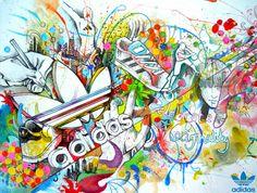 Adidas Spirit graffiti for dancers to hide in?