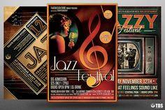Jazz Festival Flyer Bundle V2 by Thats Design Store on @creativemarket
