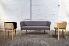 "sickandslick: "" Batten Sofa & Chairs by Jamie McLellan for 'dialog' by Backhouse """