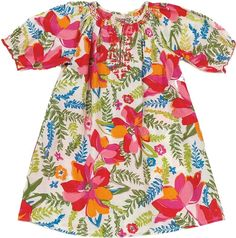 Elle Dress by Pink Chicken - This fun new print with hand smocking and contrasting embroidery gives it the gorgeous color every girl wants.