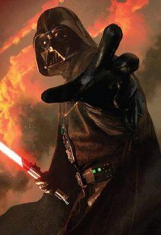 Star Wars Limited Edition Art Sleeves: Power of the Dark Side Darth Vader, Anakin Vader, Anakin Skywalker, Star Wars Personajes, Vader Star Wars, Star Wars Images, Star Wars Wallpaper, Star Wars Fan Art, Star Wars Poster