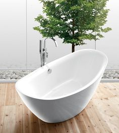 "Legion Furniture June 71"" Acrylic Ellipse Freestanding Bathtub"