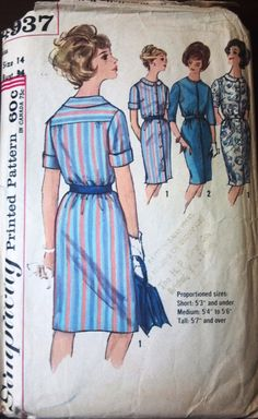 Simplicity 4937 Pattern for Misses Dress in by VictorianWardrobe, $10.00