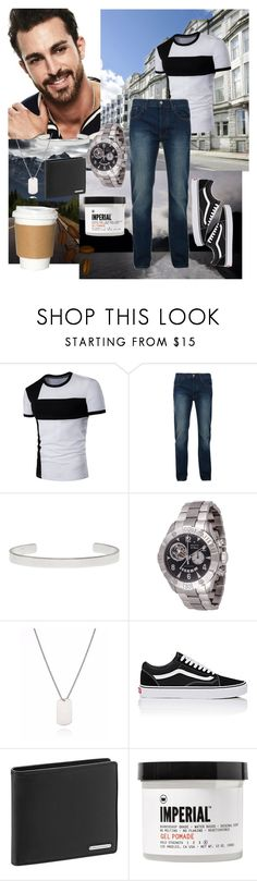 """""""Casual Polo"""" by amore520 ❤ liked on Polyvore featuring Bellfield, Maison Margiela, Zenith, Vans, Porsche Design, Imperial Barber Products, men's fashion and menswear"""
