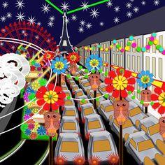Blackpool Illuminations, a project by sunset, #Daisytrail #CraftArtist #Serif #a_sunset_scrap