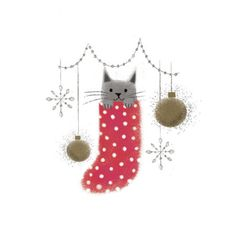 Leading Illustration & Publishing Agency based in London, New York & Marbella. Watercolor Christmas Cards, Christmas Drawing, Diy Christmas Cards, Christmas Cats, Christmas Pictures, Xmas Cards, Christmas Time, Vintage Christmas, Holiday Cards
