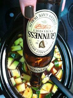 Crockpot Beer Chili (vegetarian)- Chili with beer and zucchini. Might be worth a try for variety from my standard chili.