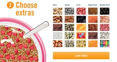 Cerealize! A great site where you can design your own breakfast treats. Shut the front door! For a cereal lover like myself this is HEAVEN! Wait... Shhhh... Can you hear the trumpets?