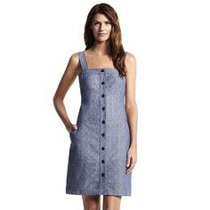 NWT Derek Lam for Design Nation Denim Dress Size 6 Button Down Blue Indigo #DerekLamforDesignNation #Sheath #Casual