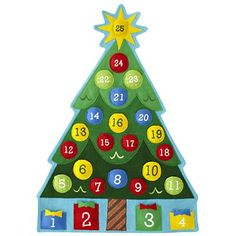 Kids' Holiday Decor: Christmas Tree Calendar Countdown in All New