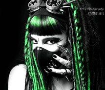 Inspiring image alternative, apocalypse, cyber, cybergoth, cyberpunk, dark, fashion, futuristic, goth, gothic, gothique, mistabys, model, scary, spooky, style, woman, cybergothgirl #2434984 by mistabys - Resolution 490x652px - Find the image to your taste