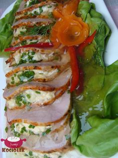 Pork loin in Warsaw Polish Recipes, Polish Food, Calzone, Pork Loin, Caprese Salad, Fresh Rolls, Fried Rice, Dinner Recipes, Food And Drink