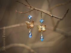 Resultado de imagem para butterfly swarovski earrings