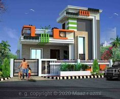House Elevation, Front Elevation, House Architecture, Ground Floor, Exterior Design, New Homes, House Design, Mansions, House Styles