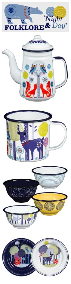 Our Folklore Collection. #mothersday #folklore #enamelware #kitchenware #picnic