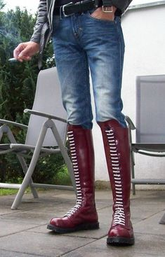 Skinhead Boots, Anti Fashion, Mens Boots Fashion, Leather Boots, Shoes, Ladder, Porn, Gay, Formal