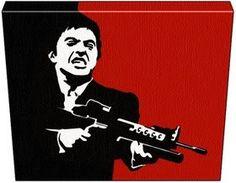 Iconic Pop Art Paintings: Al Pacino Scarface Original Pop Art Acrylic Paintings