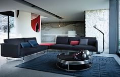 Contemporary and modern furniture style utilizing quality materials and workmanship together with design and comfort