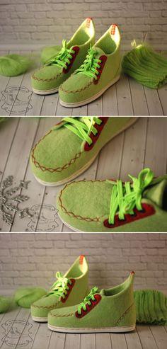"Felted Ankle Boots | Валяные ботинки ""Стиляги"" — работа дня на Ярмарке Мастеров"