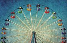 Fundo do grunge do vintage com roda de ferris Imagem de Stock Royalty Free