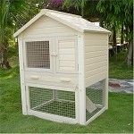 Huntington Townhouse Rabbit Hutch.  Weather Proof Recycled Polymers.  $329.95  Free Shipping