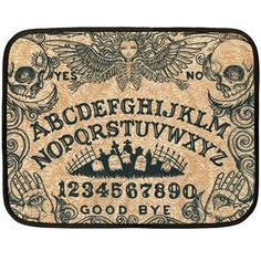 Ouija Board Blanket, available single or double sided. Single print is white on the one side. Made of polar fleece. Soft and comfortable! $35.99