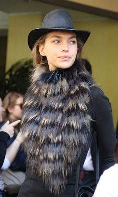 Fur & hat (wearing those poor innocent animals is atrocious!)