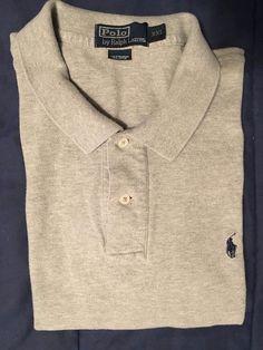 Men's POLO BY RALPH LAUREN Golf Shirt - Gray Textured - Size XXL…