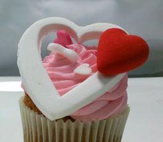 Cupcake de San Valentín