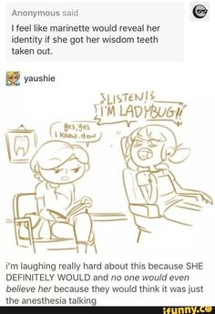 There was a fan fiction like this except with adrien in it instead of marinette