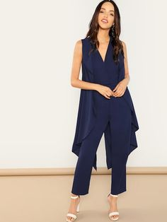 To find out about the [good_name] at SHEIN, part of our latest Jumpsuits ready to shop online today! Trendy Summer Outfits, Casual Outfits, Palazzo Pants Online, Cape Jumpsuit, Bridal Jumpsuit, Jumpsuit With Sleeves, Jumpsuits For Women, Fashion Pants, Dress Collection